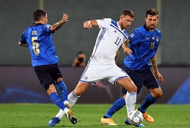 """پخش مسابقه """"بوسنی-ایتالیا"""" از لیگ ملت های اروپا"""