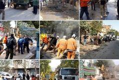 پاکسازی گسترده شهر توسط نیروهای شهرداری خرم آباد