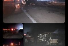 آغاز شناسایی اجساد  جانباختگان حادثه اتوبوس نطنز