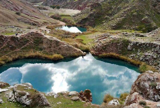 دیدن تنها دریاچه «دوقلوی» ایران