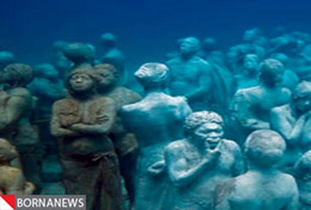 مجسمههای دیدنی زیر آب + فیلم