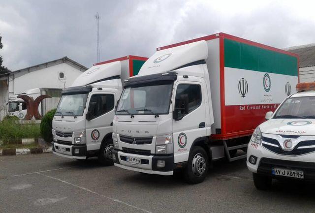 ۲ دستگاه خودروی باربری به لجستیک هلال احمر گیلان اضافه شد