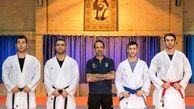 حضور کادرفنی تیم ملی در سالن تمرینات انفرادی ۴ ملی پوش کاراته
