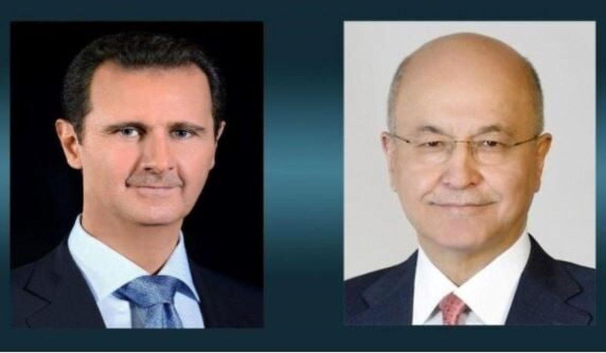 تماس تلفنی رئیس جمهوری عراق با اسد