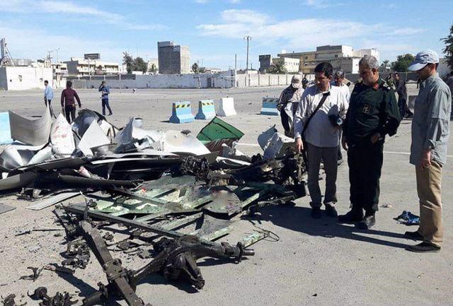 حضور فرمانده نیروی زمینی سپاه در محل حادثه تروریستی چابهار