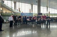 قهرمانان آسیا وارد تهران شدند