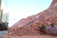 ریزش کوه در تبریز