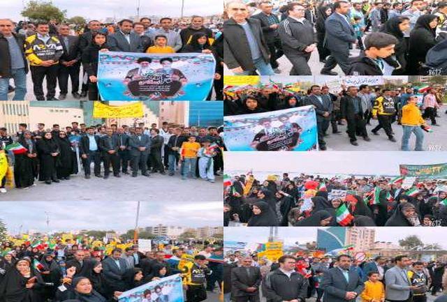 حضور گسترده جامعه ورزش و جوانان استان هرمزگان در راهپیمایی یوم الله 22 بهمن