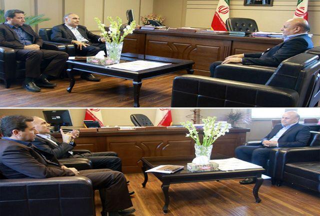 دیدار فرماندار شهرستان شهریار با مدیر عامل شهرها و شهرک های غرب استان تهران