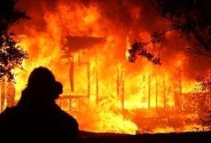 آتش سوزی شدید در خوابگاه دانشجویی
