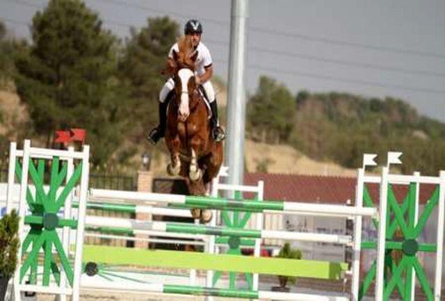مسابقات پرش با اسب در قزوین برگزار شد