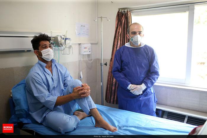 روند درمانی حسین نوری و قدردانی دبیر از مساعدت وزیر ورزش و جوانان/ ببینید