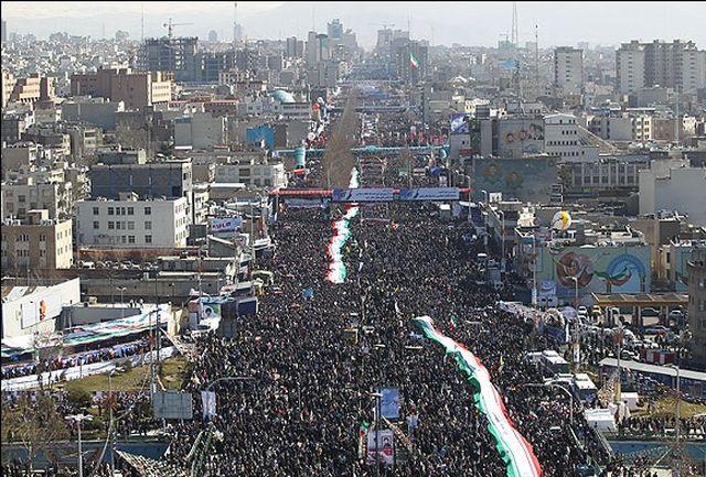 نمایش تصویری حضور مردم در ۲۲ بهمن با کواد کوپترها