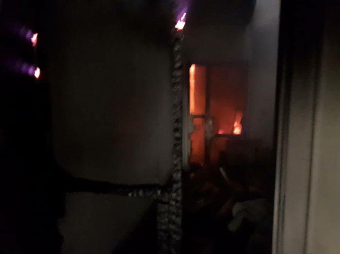 عملیات اطفای حریق در محله شوش + فیلم