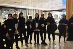 بازدید دانشجویان ورزشکار دختر از موزه ملی ورزش