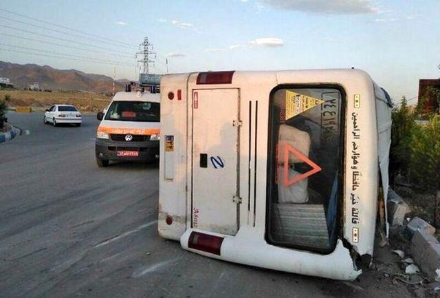 30 کشته و مصدوم در برخورد مینی بوس با کامیون