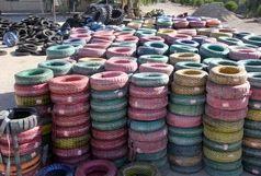 کشف 14 میلیارد ریال لاستیک احتکارشده در سراوان