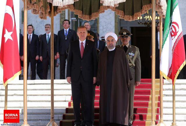 دکتر روحانی از رییس جمهوری ترکیه استقبال کرد