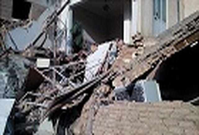 تخریب نیمی از ساختمان مسکونی بر اثر گودبرداری نا ایمن
