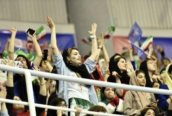 در حاشیه دیدار تیم های والیبال ایران - روسیه