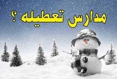 برف مدارس تبریز را در شیف بعد از ظهر به تعطیلی کشاند + تعطیلی دیگر شهرها