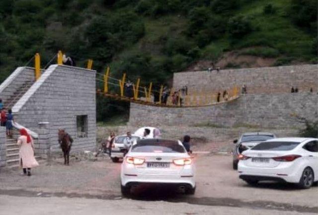 استقبال هر روزه شهروندان و گردشگران از تنها پل کابلی معلّق در استانهای شمالی