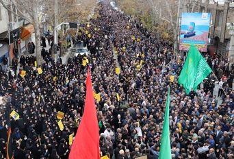 راهپیمایی مردم خرم آباد در سوگ شهادت سردارحاج قاسم سلیمانی
