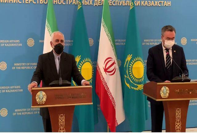 حضور قزاقستان در اینچه برون، بندرعباس و چابهار برای ایران محترم است