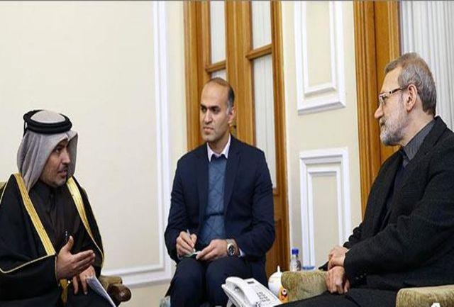 قطر لاریجانی را برای حضور در اجلاس بینالمجالس دعوت کرد