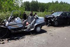جان باختن 4 نفر بر اثر انحراف به چپ خودرو پراید در محور ضیابر به پونل
