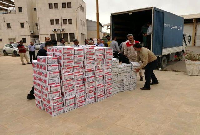 شرکت های نفتی کمک های خود را به مناطق سیل زده ارسال کردند