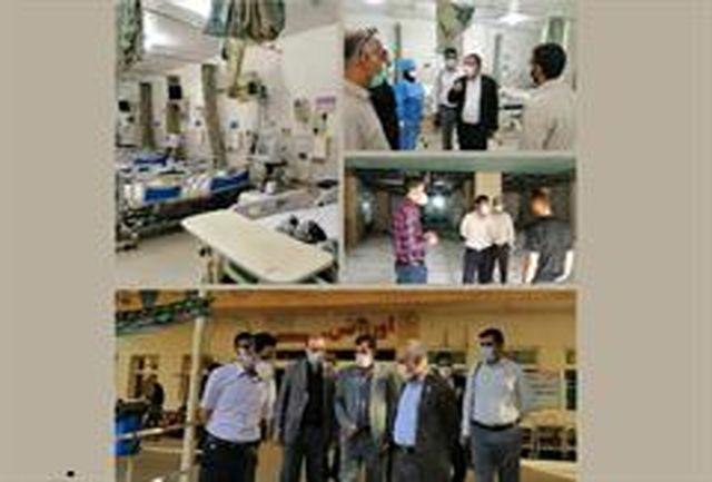 بازدیداز پروژه توسعه اورژانس و بخش آی.سی.یو بیمارستان شهید محمدی بندرعباس
