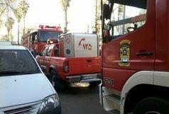 مهار آتش سوزی در شعبه بانکی در رشت