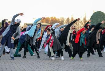 همایش ایستگاه های فعالیت بدنی در بوستان لاله