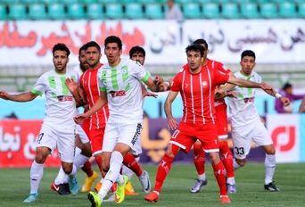 دیدار تیم های فوتبال ذوب آهن اصفهان- سپیدرود رشت