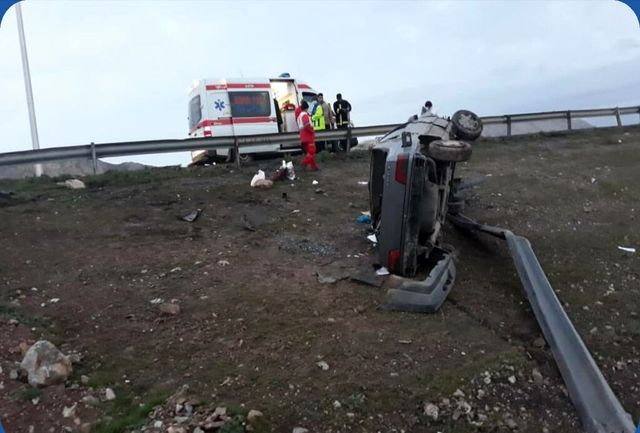 واژگونی خودرو در قزوین ۵ مصدوم برجای گذاشت
