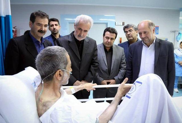 استاندار آذربایجان شرقی از فرزند استاد شهریار عیادت کرد