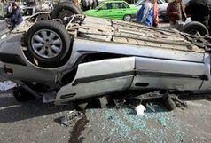 یک کشته و 5 مجروح در حادثه واژگونی405 در محور فاروج به قوچان