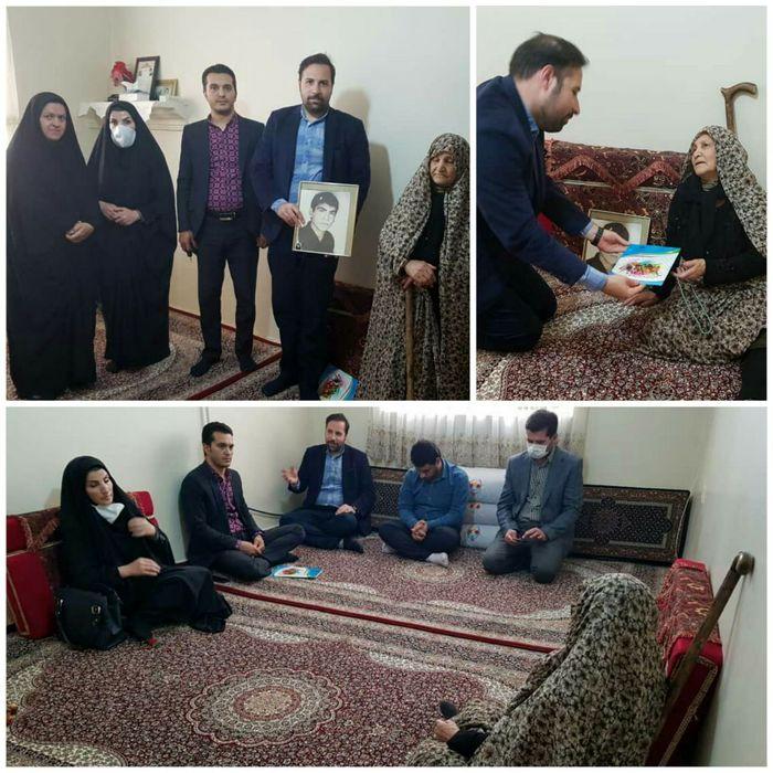 جامعه ورزش و جوانان بهار با مادر شهید علی زارعی دیدار کردند