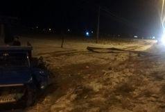 امدادرسانی به مصدومان حادثه واژگونی نیسان