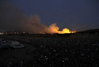 آتش سوزی انبار کالا در محله مشیریه
