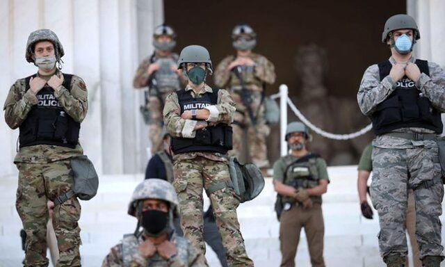 نیروهای گارد ملی آمریکا برای سرکوب اعتراضها به واشنگتن اعزام شدند