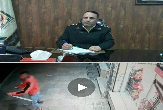 دستگیری فرد مزاحم شرور قمه به دست در دماوند
