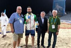 لالوویچ کسب مدال طلای رحمانی را تبریک گفت