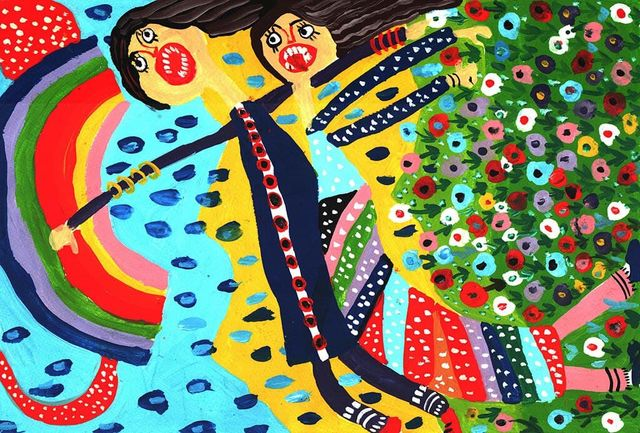 درخشش اعضای کانون پرورش فکری آذربایجانغربی در مسابقه نقاشی «بازیهای بومیمحلی»