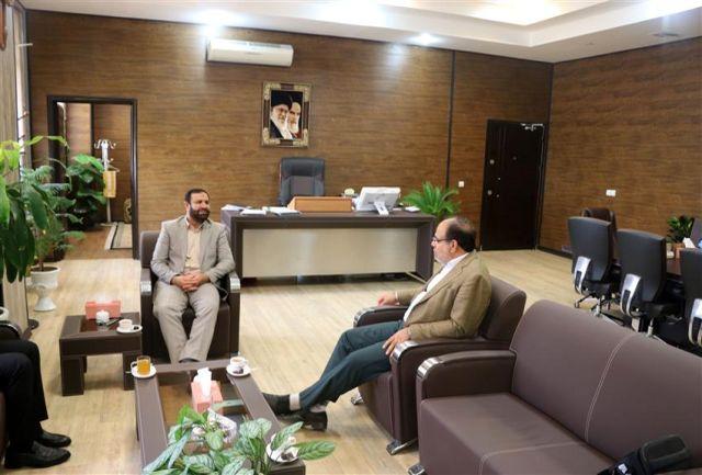 دیدار مدیر عامل شرکت آب منطقه ای هرمزگان با رئیس کل جدید دادگستری هرمزگان