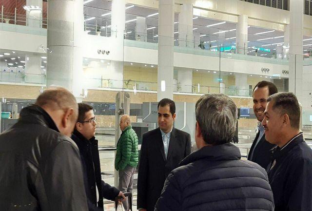 استقبال از هیات جوانان جمهوری آذربایجان در بدو ورود به تهران