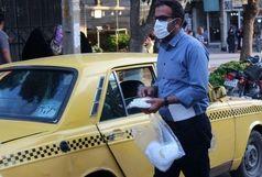 توزیع ۷۰۰ عدد ماسک بین رانندگان تاکسی در نهاوند