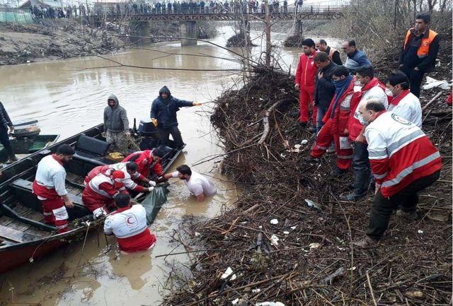 پیدا شدن دومین جسد حادثه سقوط پراید در رودخانه فومن