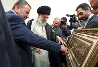 دیدار نایب رئیس دفتر سیاسی حماس با رهبر انقلاب اسلامی